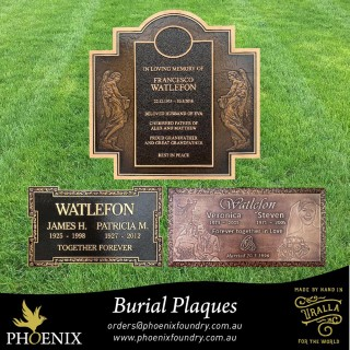 Phoenix Foundry Burial Plaques